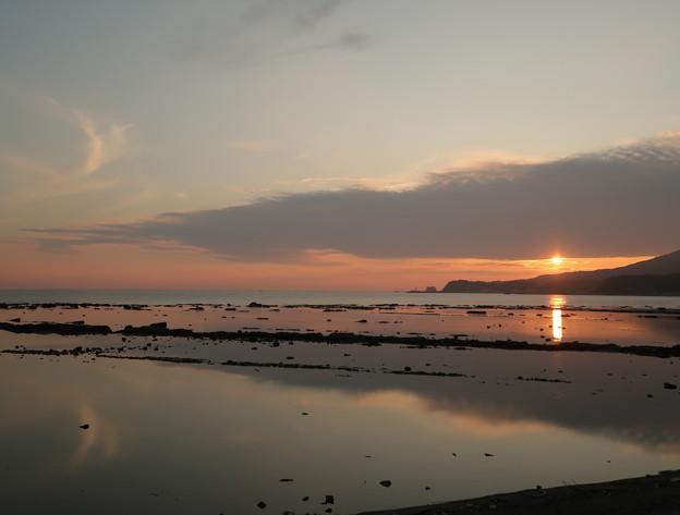 鵜ノ崎夕景9月5日 秋田のウユニ塩湖