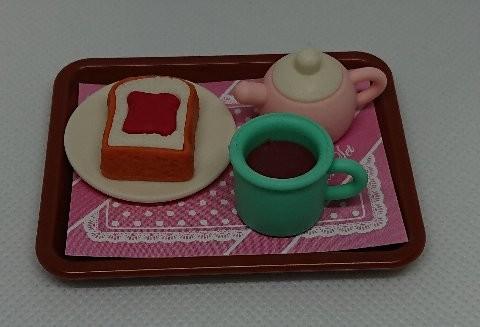 Photos: カフェ消しゴムセット トーストセット