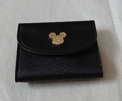 steady. ナチュラルビューティベーシック特製 スクリーンデビュー90周年記念 ミッキーマウス上質レザー調ミニ財布