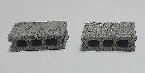 ミニチュアオブジェ コンクリートブロック
