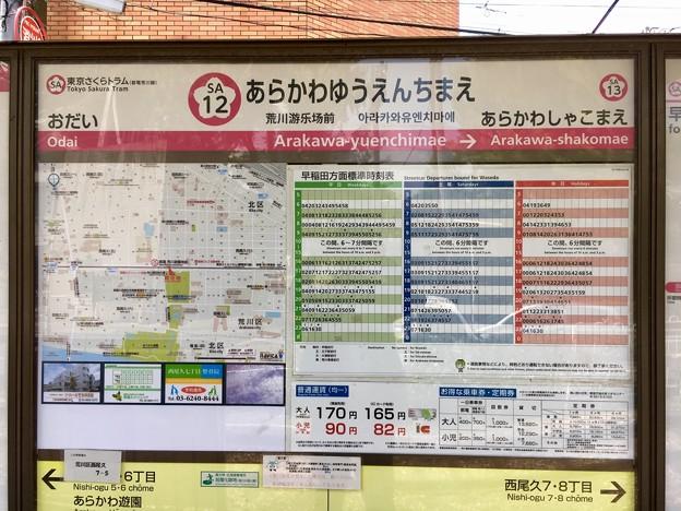 荒川遊園地前停留場 Arakawa-yuenchimae Sta.