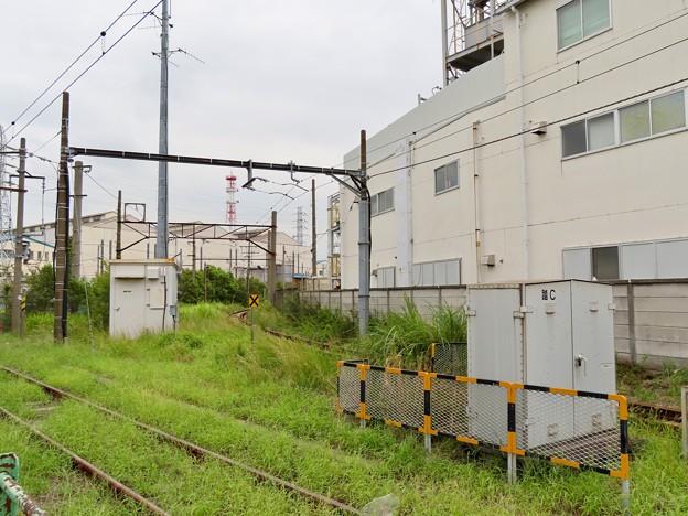 武蔵白石駅 大川支線ホーム跡