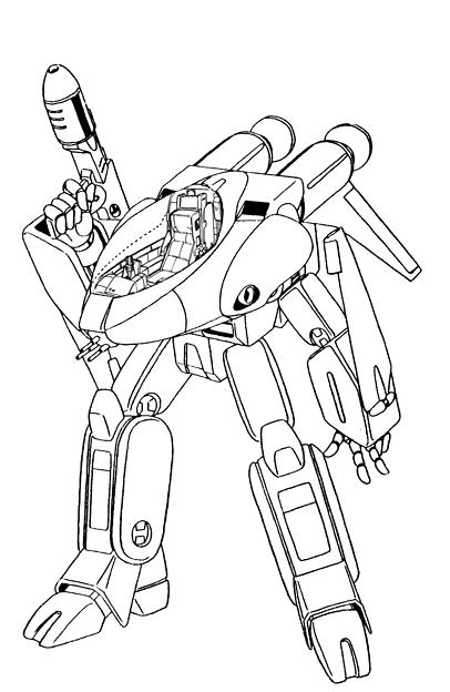 【ガウォーク】軽可変戦闘機 VF-8A 宇宙ローガン