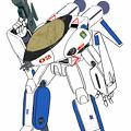 【改訂版】白・青色 VF-8A 宇宙ローガン ( ガウォーク形態)