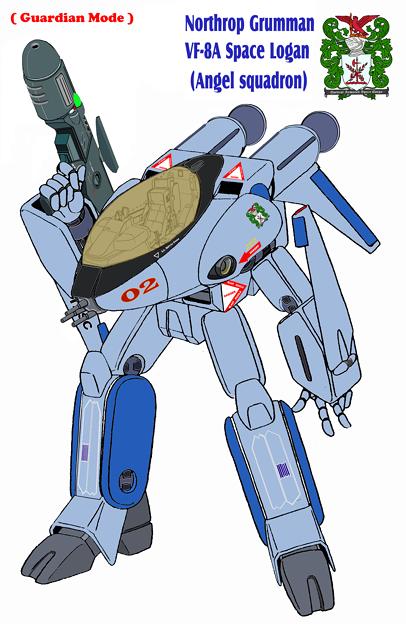 【改訂版】(すみれ色・ガウォーク形態) 宇宙機甲団 VF-8A 宇宙ローガン