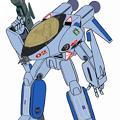 Photos: 【改訂版】(すみれ色・ガウォーク形態) 宇宙機甲団 VF-8A 宇宙ローガン