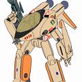 Photos: 【改訂版】VF-8A 宇宙ローガン 橙色塗装 (航空機形態)
