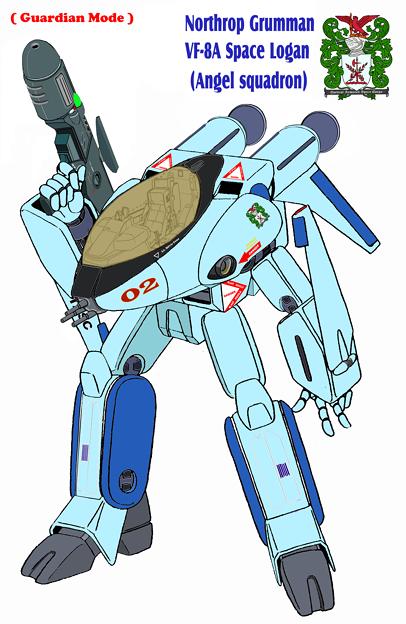 【改訂版・ガウォーク形態】〔水色〕『VF-8A スペース・ローガン 』マリー・エンジェルス一般塗装