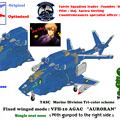Photos: 宇宙機甲団・海兵分団 VFH-10G 複座型「オーロラン」(ガンポッド付)