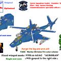 【腕と脚ユニット排除】ジャイロダイン形態 VFH-10C 単座型 オーロラン