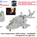 【固定翼形態】単座型 VFH-10C オーロラン(ガンポット付)