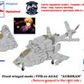 【固定翼形態】VFH-10C 単座型 オーロラン(ガンポット無し)