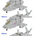 可変戦闘機 VFH-10C(海兵隊用・単座型)オーロラン:下腕変形過程 01(phase 01-03)