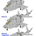 可変戦闘機 VFH-10C(海兵隊用・単座型)オーロラン:下腕変形過程 02(phase 04, phase 05, phase 06)
