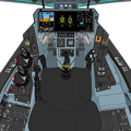 (Block 45 旧型双子スロットル) 可変戦闘機 VFH-10G オーロラン 操縦席