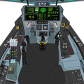 (Block 44 戦闘機型 2066年) 可変戦闘機 VFH-10C オーロラン 操縦席