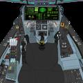 Photos: (Block 44 戦闘機型 2066年) 可変戦闘機 VFH-10C オーロラン 操縦席
