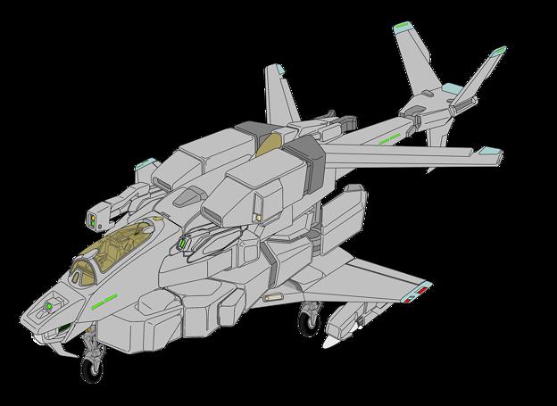 単座・ガンポッド装備 固定翼形態 VFH-10C オーロラン