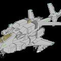 Photos: 単座・ガンポッド装備 固定翼形態 VFH-10C オーロラン