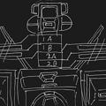 Photos: 可変戦闘機「オーロラン」 回転翼構造図〔白線画〕