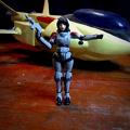 可変・軽戦闘機 「VF-8A ローガン」 と『マリー・アンジェル』〔画像 A〕