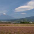 UFO雲とレンゲ草。