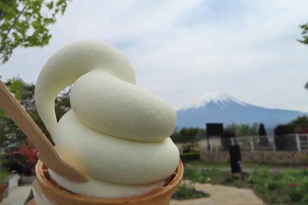 ミルクソフトクリーム、太巻きや~。