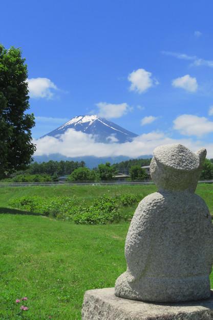 富士山見ている像。