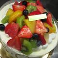 写真: フルーツたっぷりケーキだよ~。