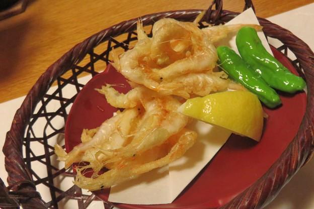 白えび天ぷらいかが。