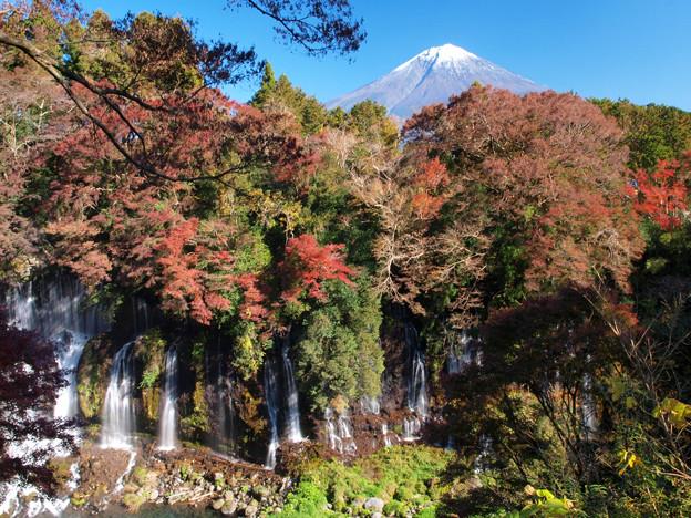 白糸の滝、秋深まる。