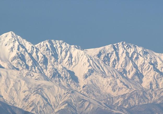 白馬三山冬らしく。