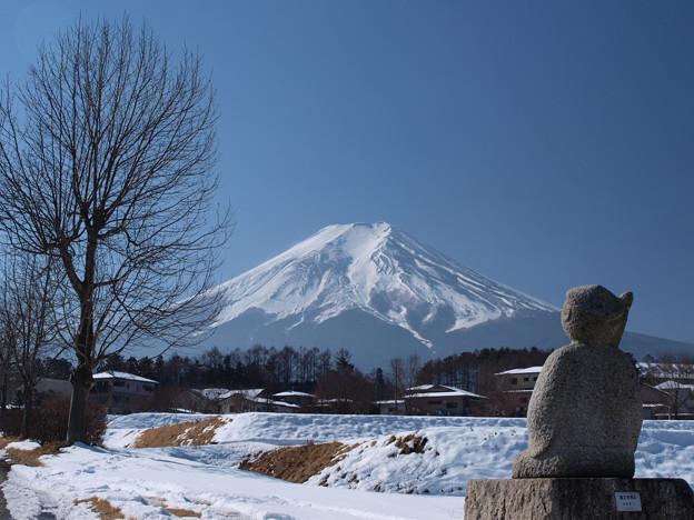 節分にも富士山見ている像。