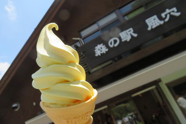 とうもろこしソフトクリーム。