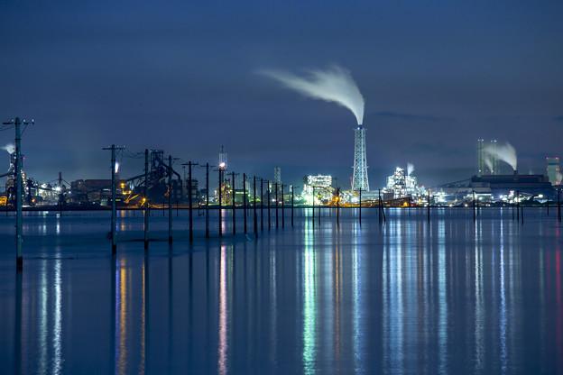 江川海岸からの工場夜景