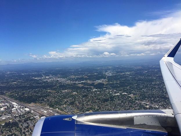 ポートランド(オレゴン)上空