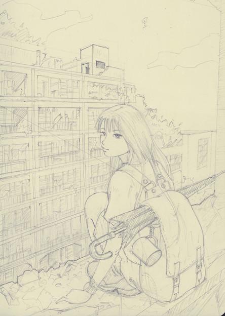 Wandering(下描き)