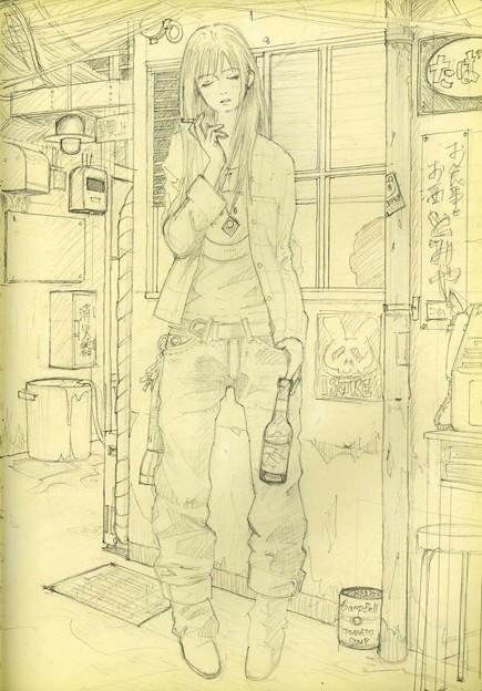 東洋軒(下描き)