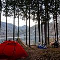 四尾連湖の朝