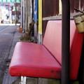 写真: 赤いソファ