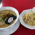 写真: 久しぶりに郡山の日和田製麺所で中華そばと炒飯