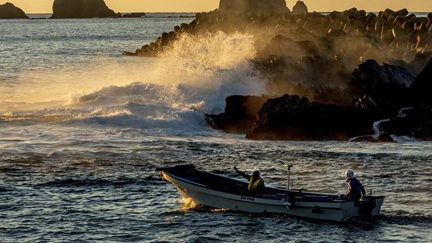 Photos: 漁場へ