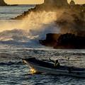 写真: 漁場へ