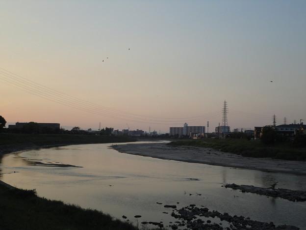 大和川夕景