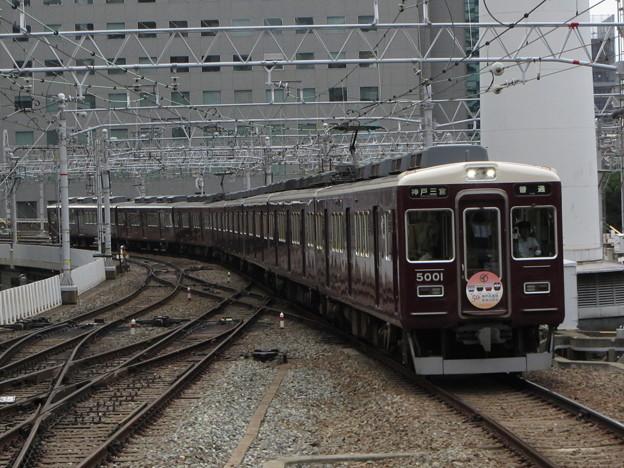阪急5000系・神戸高速線開通50周年記念ヘッドマーク