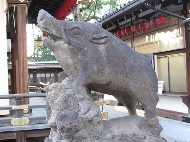 護王神社(いのしし神社)の狛いのしし
