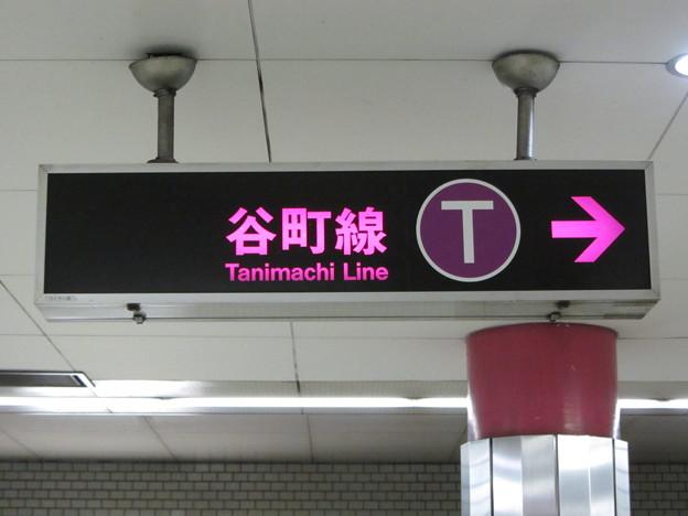 大阪メトロ・乗り換え看板