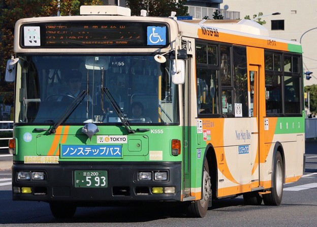 東京都交通局  K555(日デ・KL-JP252NAN改) フロント部