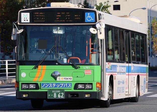 東京都交通局 L761(日野・KL-HR1JNEE) フロント部