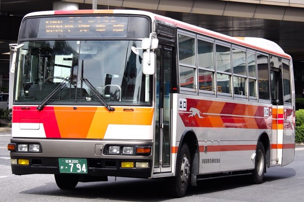 帝産湖南交通 滋賀200か794(三菱ふそう・KC-MK219J) フロント部